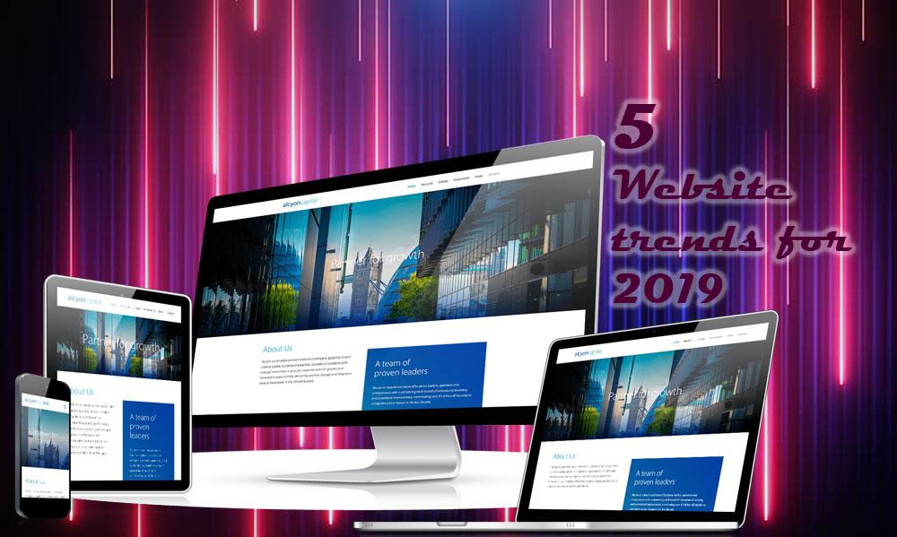 5 website trends for 2019