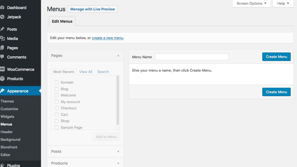 Wordpress-Menus
