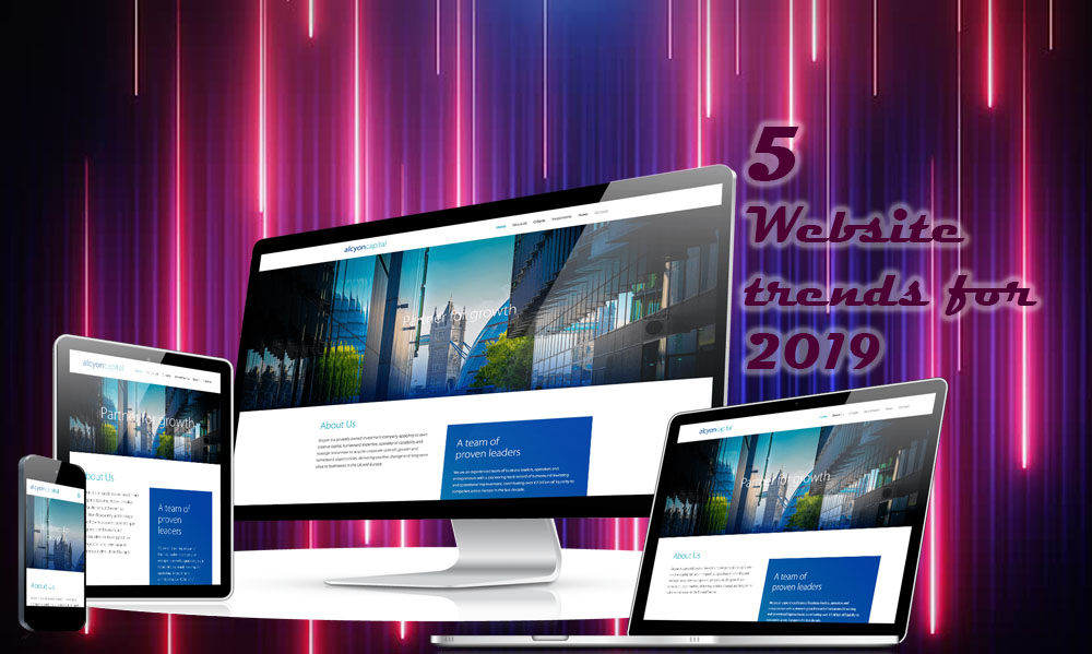 5 website trends for 2019